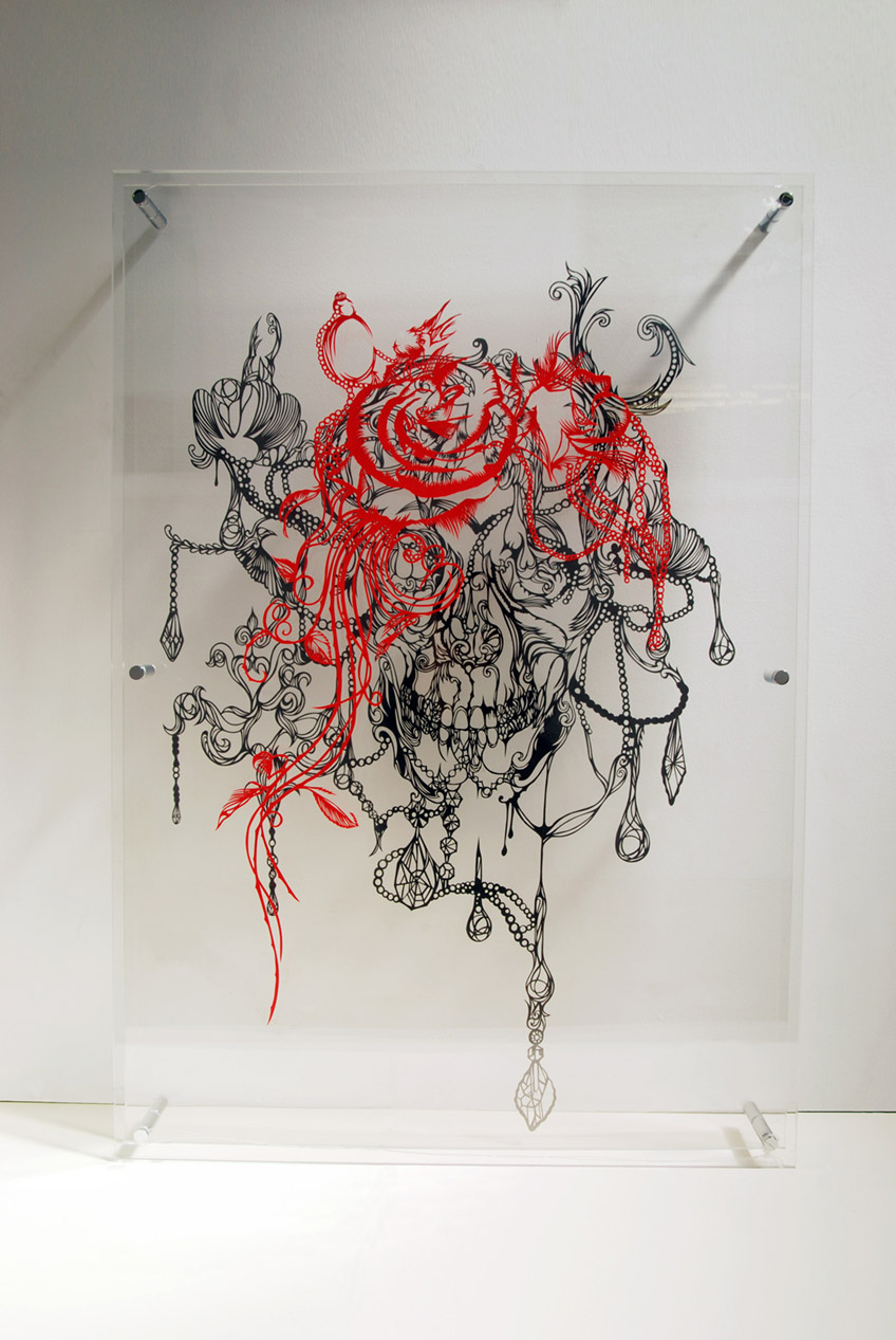 Chandelier Piece - Paper Cut Art - Nahoko Kojima