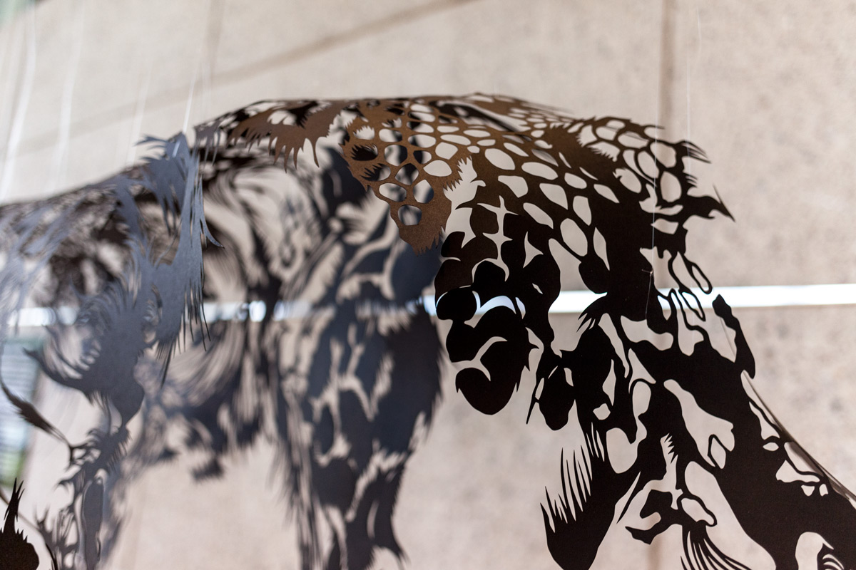 ArtPrize2014 Installation Paper Cut Sculpture Nahoko Kojima Cloud Leopard Artprize