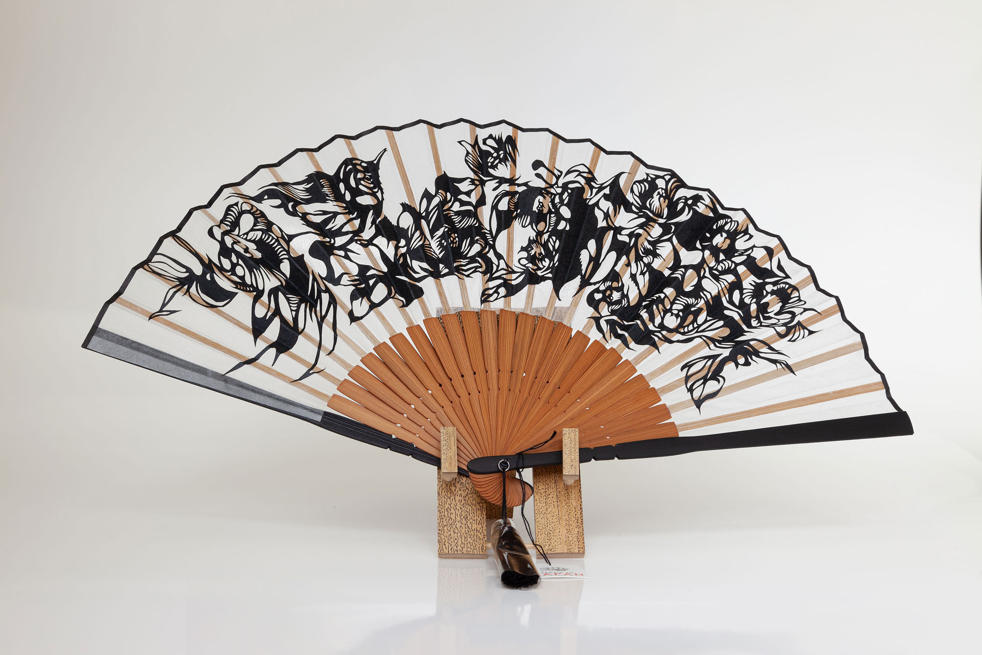 Nahoko Kojima Japanese Paper cut Sensu Fan Made in Japan