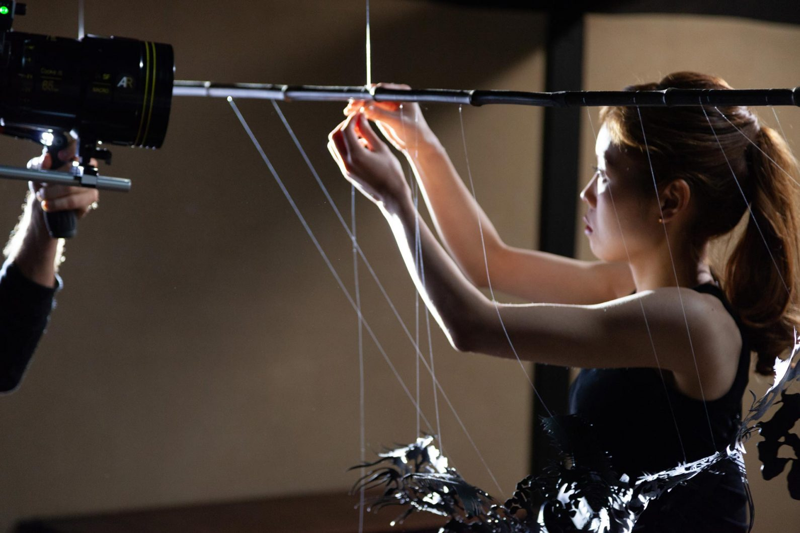Contemporary Paper Artist Kojima during filming of Takumi film in 2018