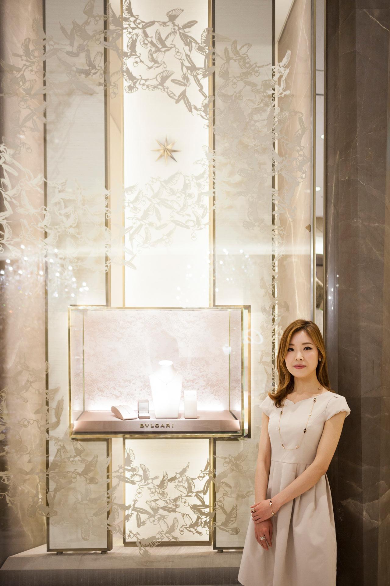 BVLGARI Bridal Art Nahoko Kojima Japanese Paper Cut