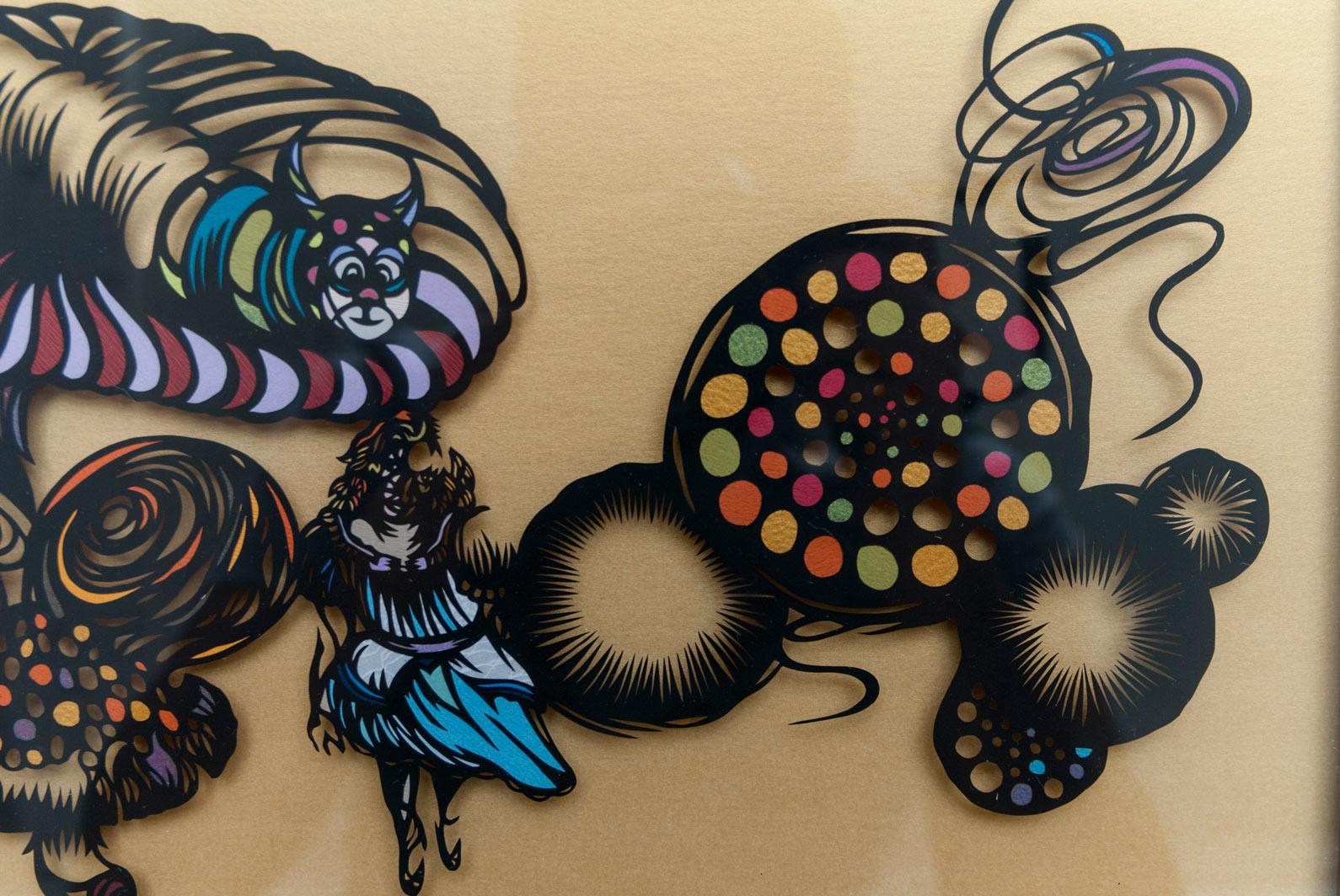 Wall Sculptures PAPER CUT ART buy ALICE-NAHOKO-KOJIMA