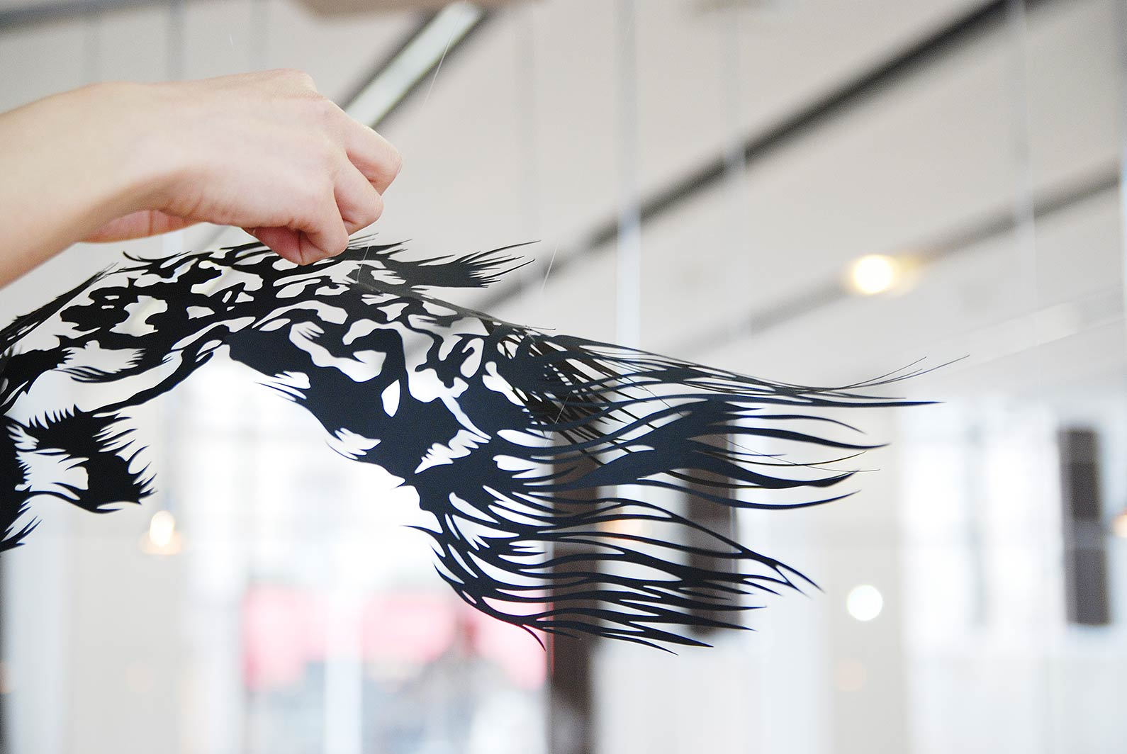 Paper Cut Art - Nahoko Kojima Cloud Leopard - Paris