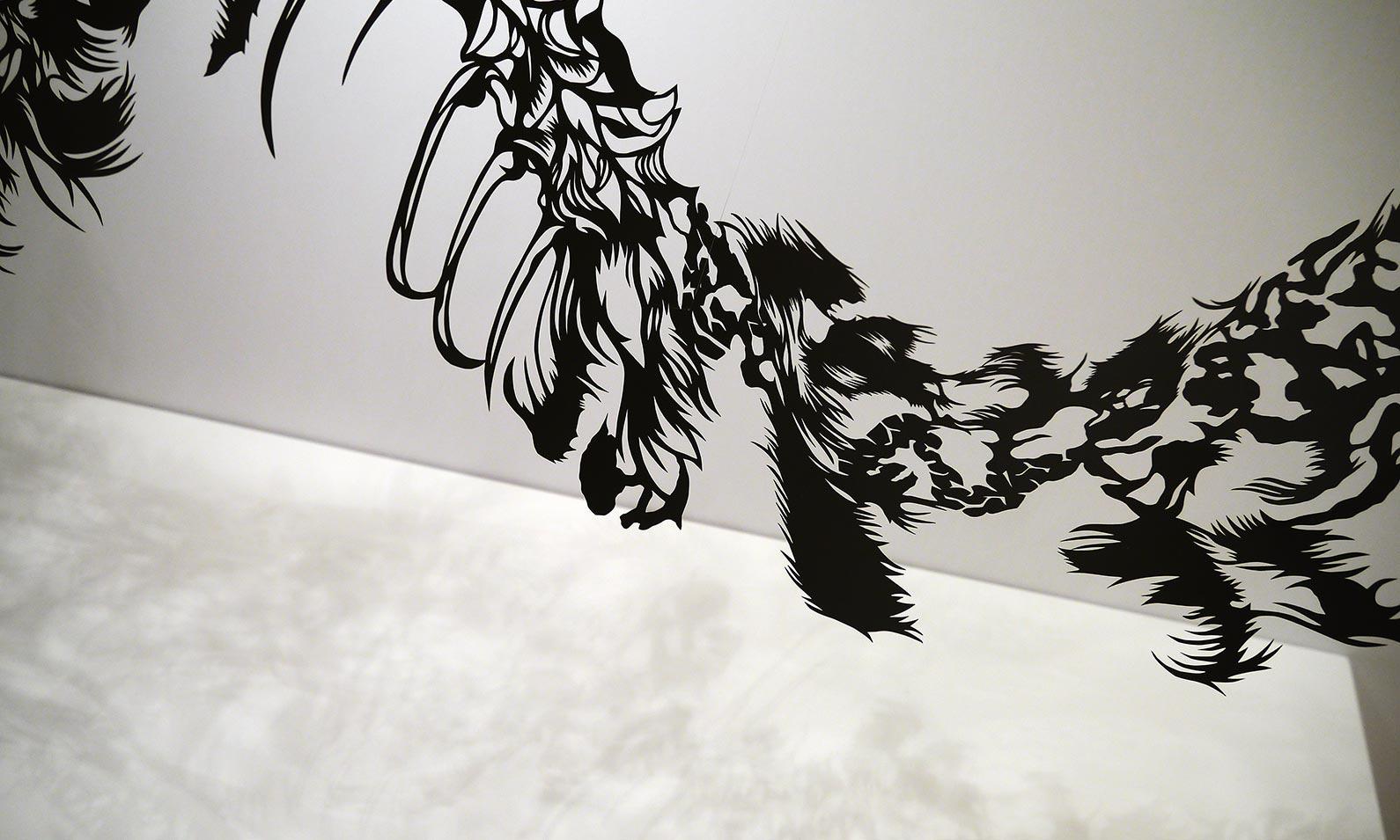 Saatchi Papercut - Nahoko Kojima - Cloud Leopard Sculpture