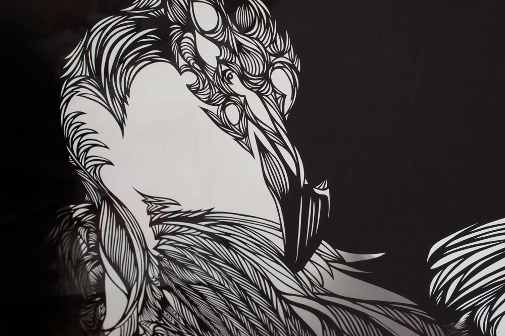 Wall-Sculptures-to buy Paper-Cut-Art_Nahoko_Kojima-Flamingo-2