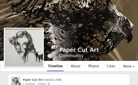 Facebook Community Paper Cut Art Sculpture