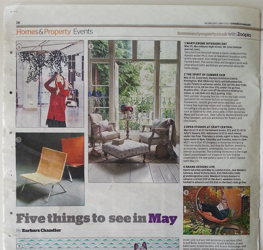 Evening Standard article Nahoko Kojima