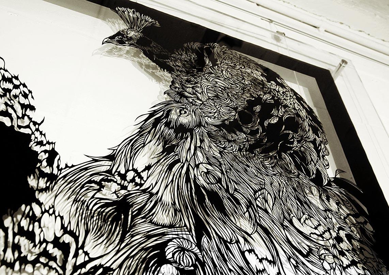peacock Paper Cut Art - Nahoko Kojima