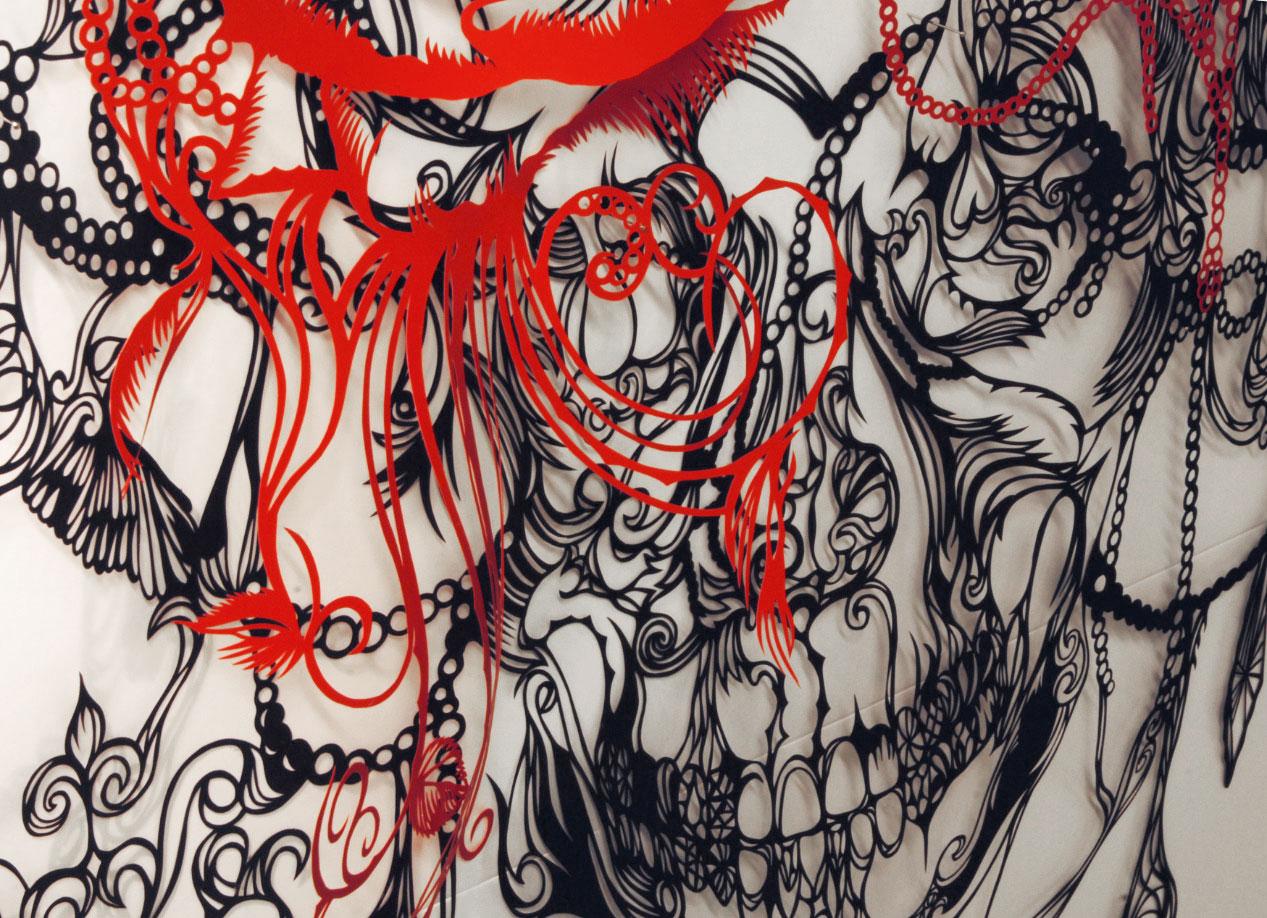 Chandelier Piece - Paper Cut Art - Nahoko Kojima