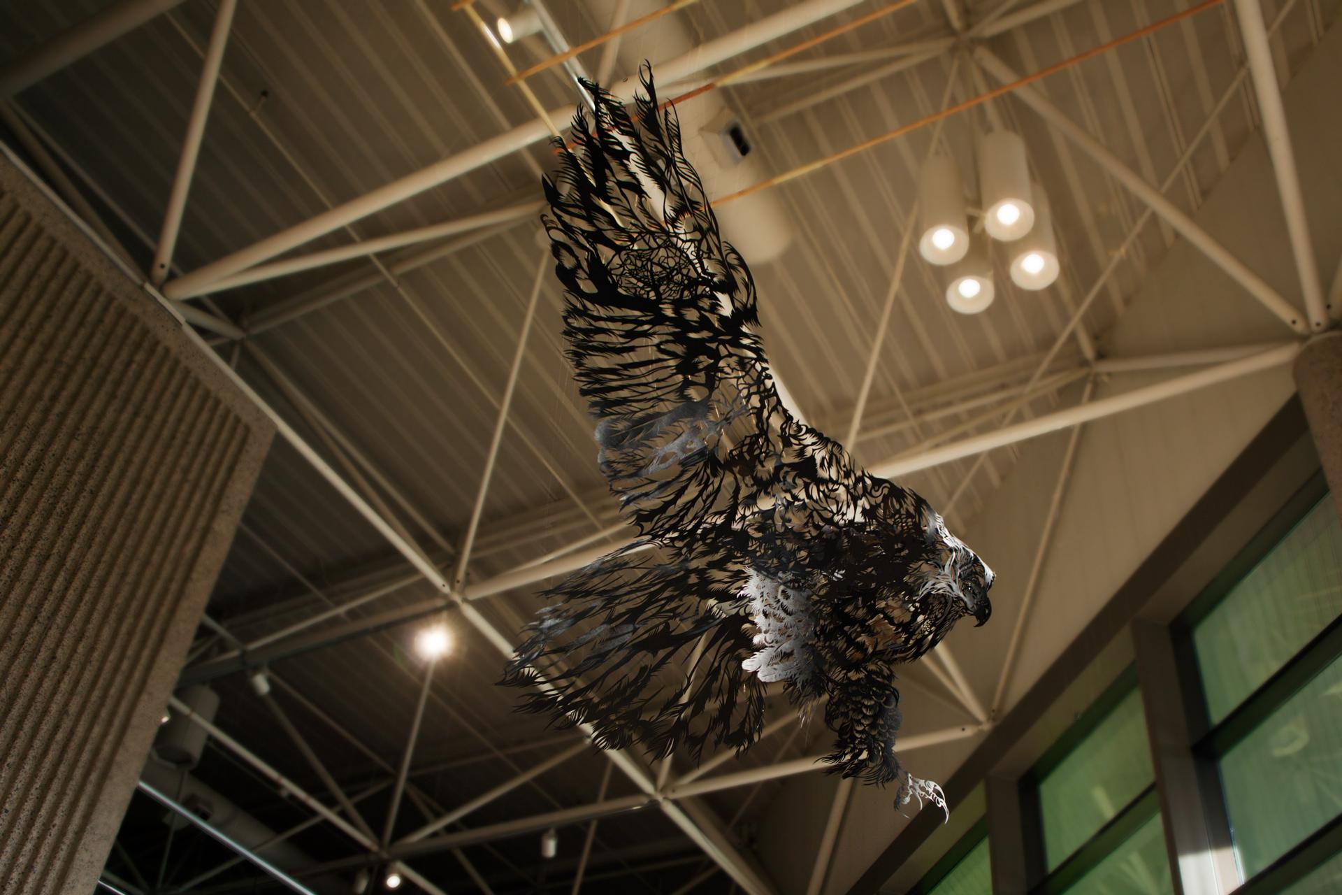 ArtPrize2014 Paper Cut Sculpture Washi Bald Eagle Nahoko Kojima ArtPrize