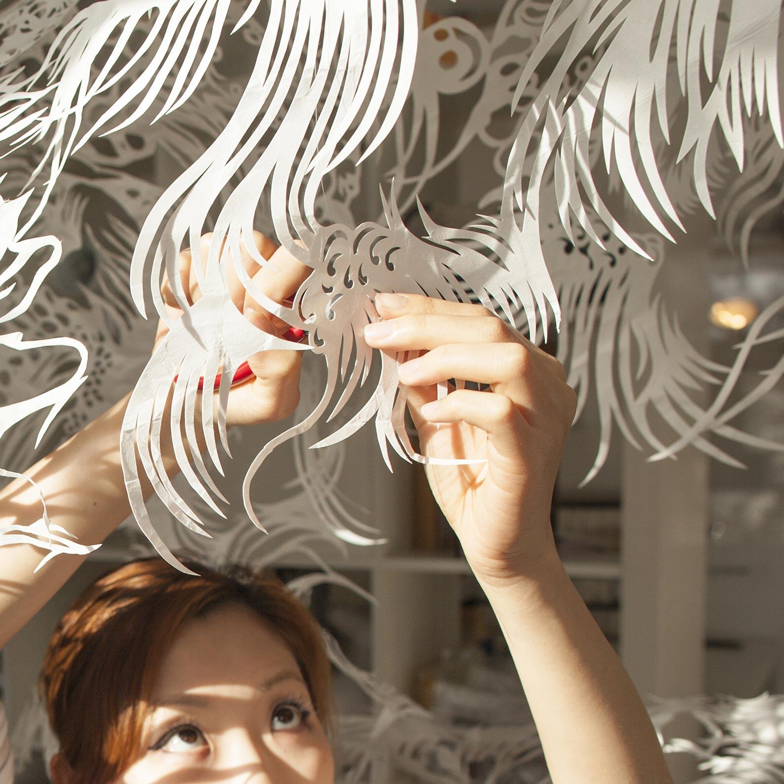 Paper Cut Art Nahoko Kojima Byaku - Jerwood Makers Open